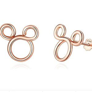 Mickey Mouse Rose Gold Studs